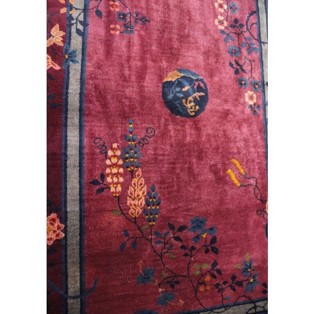 Antique Art Deco Chinese Rug For Sale - Image 10 of 11
