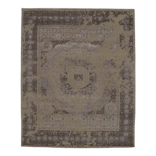 "Modern Pasargad N Y Hand Knotted Wool & Bamboo Silk Area Rug - 8'1"" X 9'10"" For Sale"