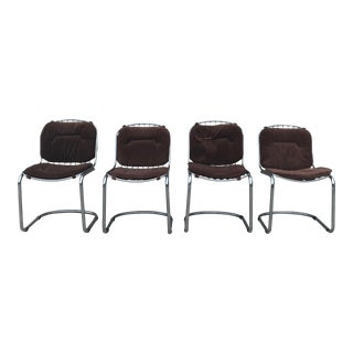 Mid Century Modern Gastone Rinaldi Wire Cantilever Chairs-Set of 4 For Sale