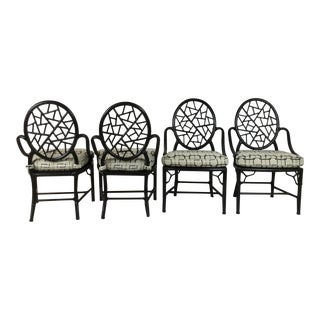 1980s Vintage McGuire Chairs- Set of 4 For Sale