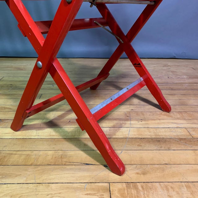 1960s Vintage Fratelli Reguitti Lacquered Folding Chairs- a Pair For Sale - Image 12 of 13
