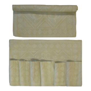 Taupe / Ecru Table Linens Collection, S/13 For Sale