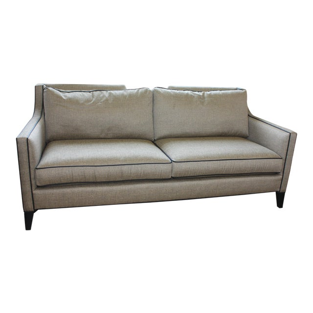 Century Furniture Two Seater Sofa With Leather Welting Chairish