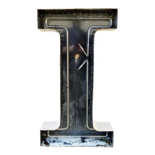 Jumbo Mid Century Channel Letter I Architectural Salvage Wall Sign For Sale