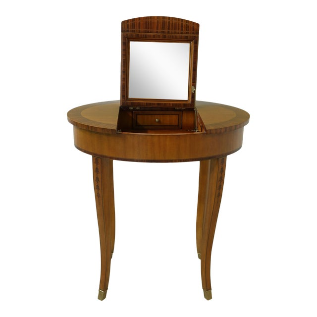 Maitland Smith Satinwood Adam Style Vanity Table For Sale