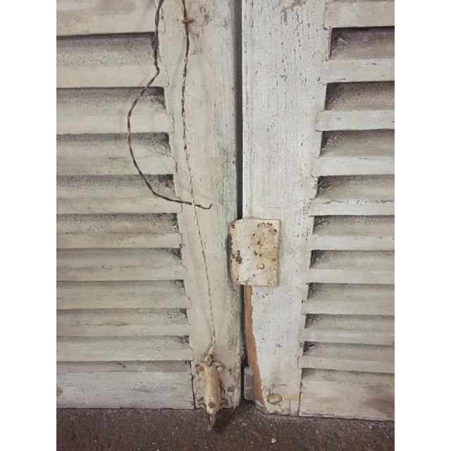 Early 20th Century Antique French Shutters - a Pair For Sale - Image 5 of 13