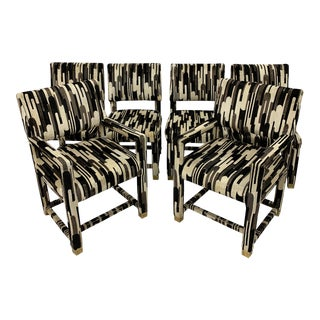 Milo Baughman Style Parsons Chairs- Set of 6 For Sale