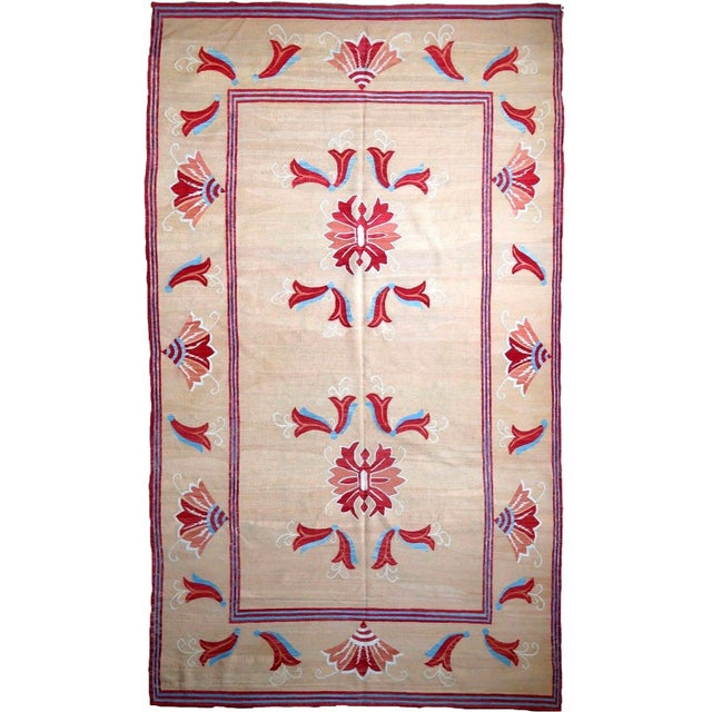 1950s, Handmade Vintage Romanian Bessarabian Kilim 5.9' X 9.6' For Sale In New York - Image 6 of 6