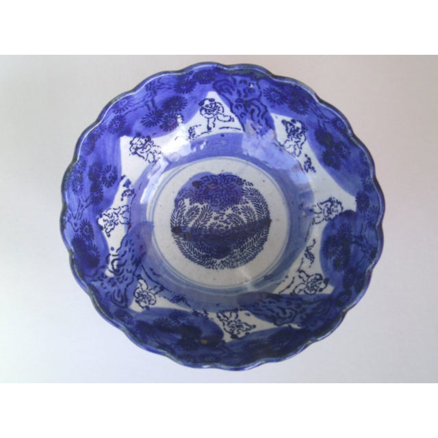19th Century Blue & White Oriental Bowl - Image 4 of 9