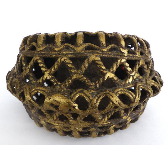 African Ivory Coast Bronze Currency Cuff & Stand For Sale - Image 3 of 5