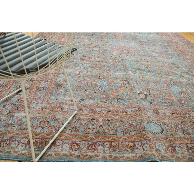 "Vintage Distressed Meshed Carpet - 8'8"" x 11'4"" - Image 6 of 10"