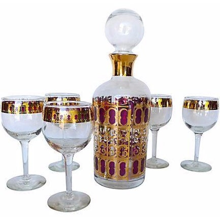 Mid Century 6-Piece Bar Set with Carafe - Image 1 of 7