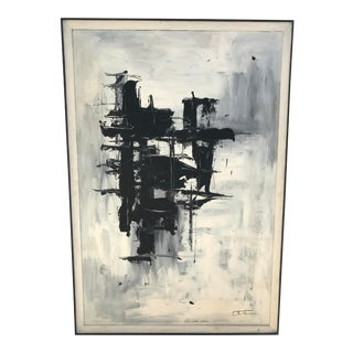 John 'Jack' Otterson Original Oil on Board Brutalist Painting For Sale