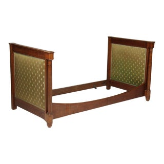 1900s French Empire Walnut Upholstered Daybed Frame For Sale