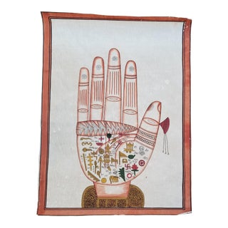 Hand Painted Textile Hand Painting For Sale