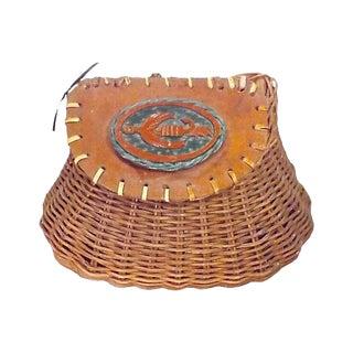 Antique Basket Fishing Creel