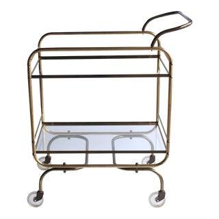 Mid Century Brass Bar Cart