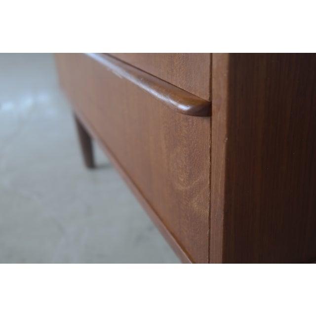 Danish Modern Teak Tallboy Dresser - Image 5 of 6