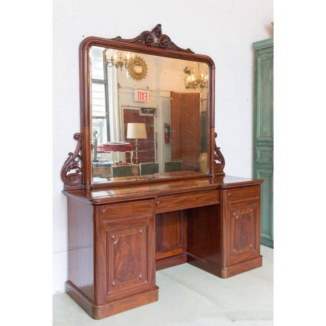 French 19th Century Antique Sideboard With Mirror For Sale - Image 3 of 11