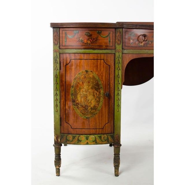 Mid 19th Century Vintage French Provincial Hand Painted Writing Desk For Sale - Image 4 of 13