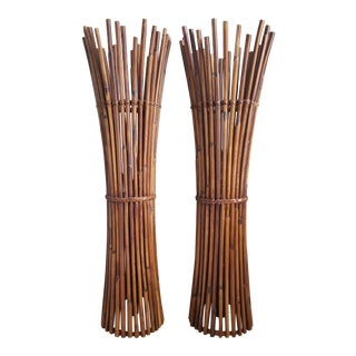 Bamboo Floor Lamps by Palecek - a Pair For Sale
