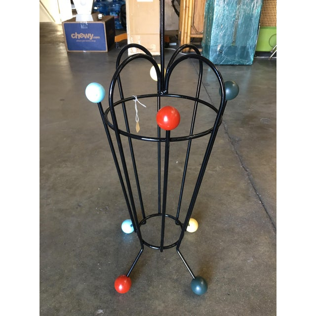 Mid-Century Modern George Nelson Inspired Iron Wire Umbrella Stand For Sale - Image 3 of 5
