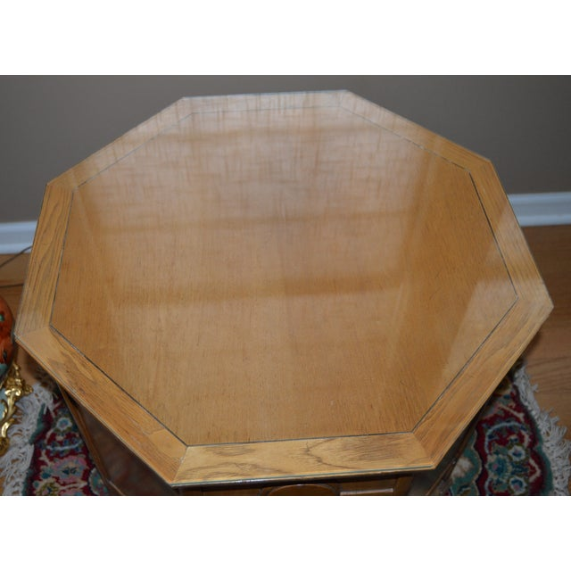 Mid-Century Modern Drexel Heritage Meridian Octagon Side Table For Sale - Image 3 of 4