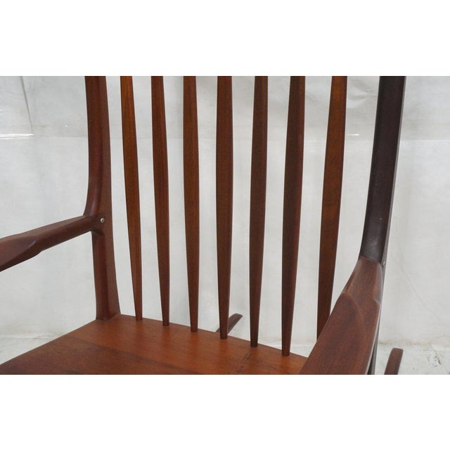 Tall Oversized American Craftsman Rocking Chair - Image 6 of 10