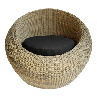 Outdoor Faux Wicker Bubble Chair For Sale