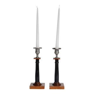 Good Pair of Swedish Empire Candlesticks For Sale