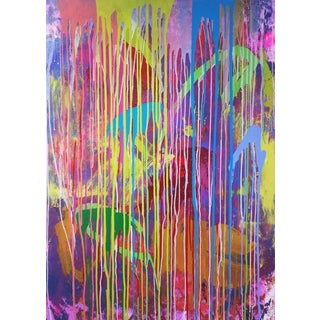 "Contemporary Abstract Oil Painting ""Color Trill Ii"" by Mirtha Moreno For Sale"