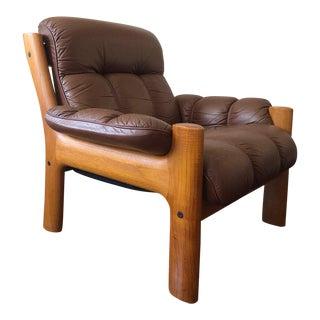 Mid Century Modern Ekornes Teak Lounge Chair For Sale