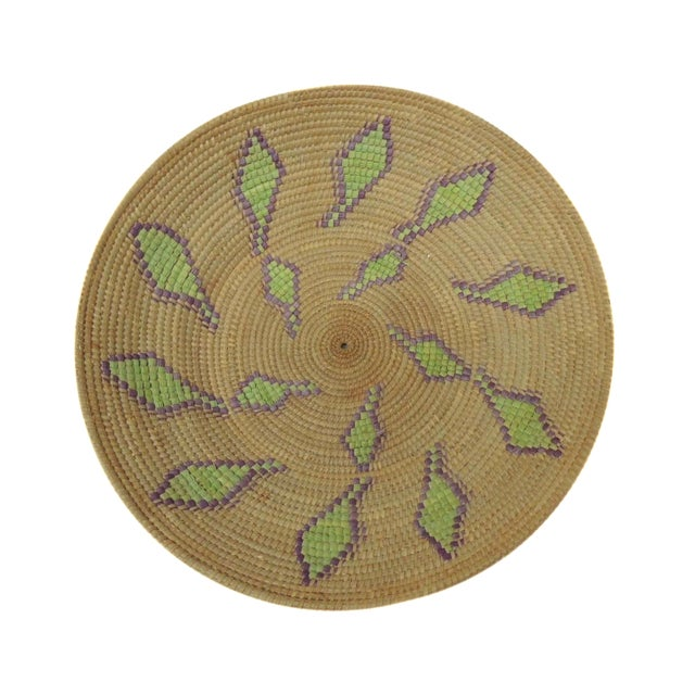 Vintage Round Decorative Basket - Image 1 of 3