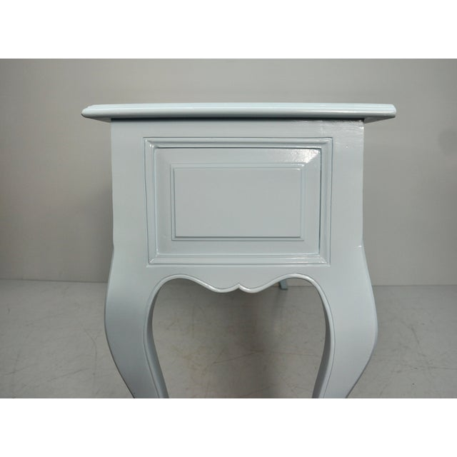 Blue Mid 20th Century French Carved Blue & White Lacquered Console Table For Sale - Image 8 of 9