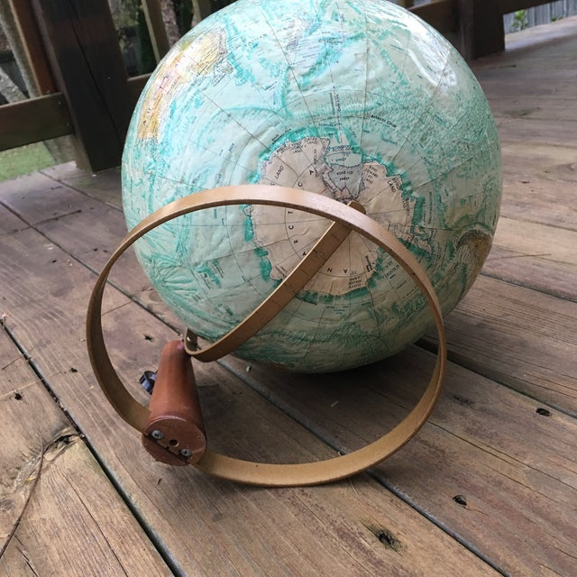 Super cool 12 inch Replogle Globe on an amazing stand!! I cannot find any date on this one but maybe you can or have fun...