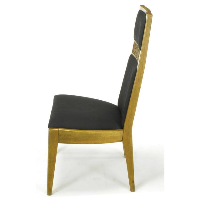 Contemporary Six Sculpted Ash Tall Back Kroehler Dining Chairs For Sale - Image 3 of 10
