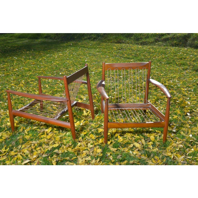 Mid-Century Danish Grete Jalk Lounge Chairs - A Pair - Image 4 of 7