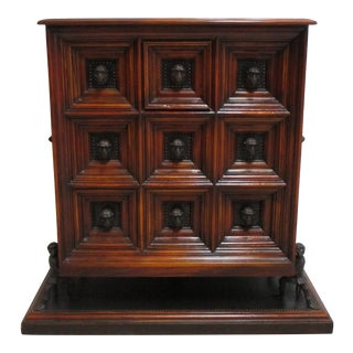 Italian Theodore Alexander Humorous Apothecary Chest Dresser For Sale