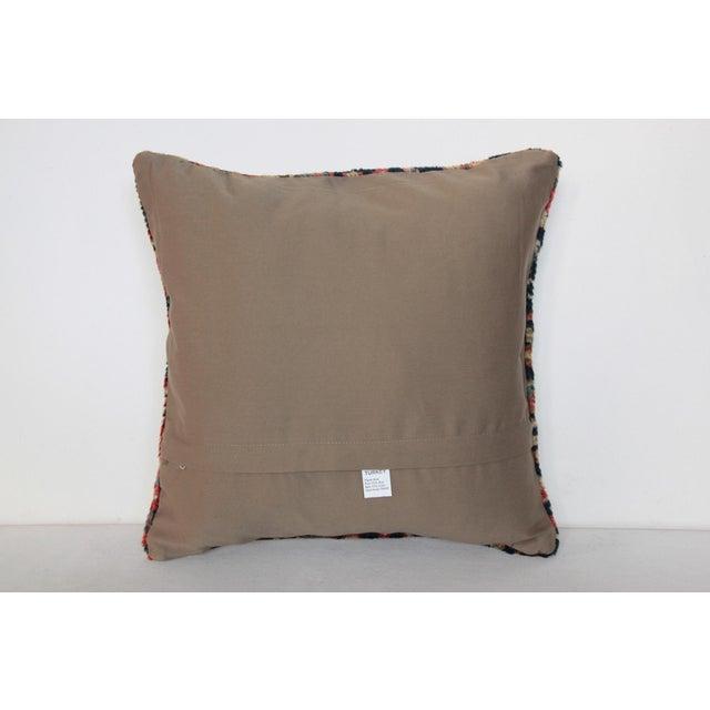 Blue Antique Caucasian Rug Pillow For Sale - Image 8 of 9