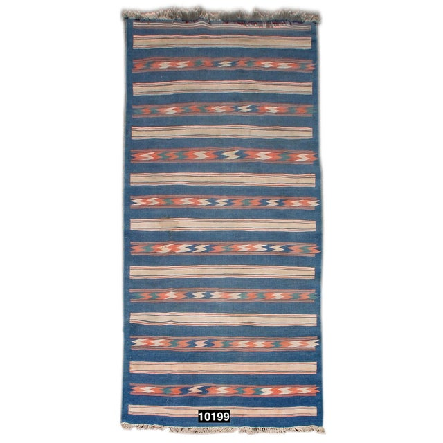 Traditional Vintage Flat-Weave Dhurrie For Sale - Image 3 of 3