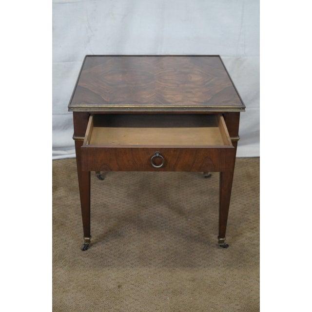 Baker Vintage Walnut Regency Directoire End Table - Image 2 of 10