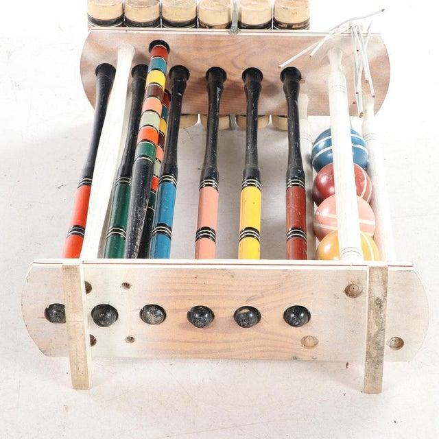 Vintage Painted Wood Croquet Set - 29 Piece For Sale - Image 11 of 13