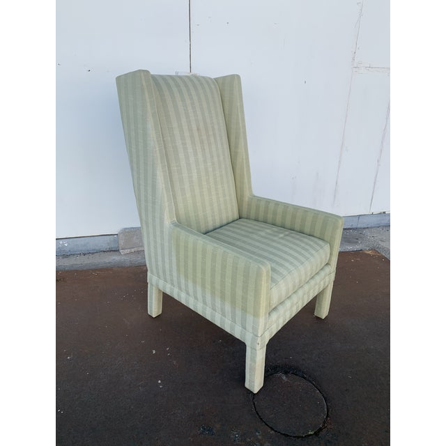 Directional Parson's Chair With X -Base Ottoman For Sale - Image 4 of 11