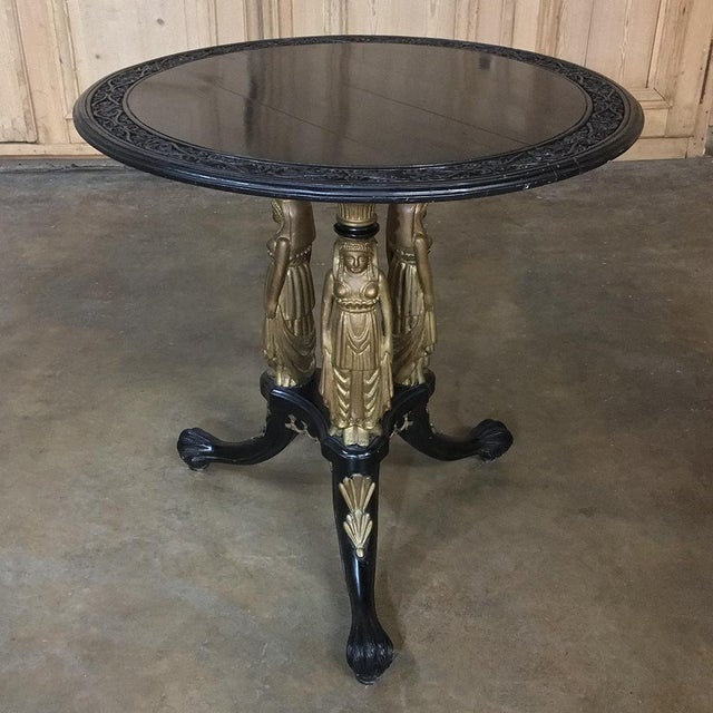 19th Century Second Empire Caryatid Center Table For Sale - Image 4 of 12
