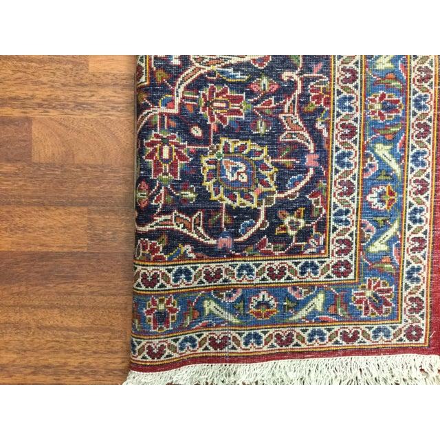 1960s 1970s Vintage Persian Kashan Rug - 9′7″ × 12′9″ For Sale - Image 5 of 7