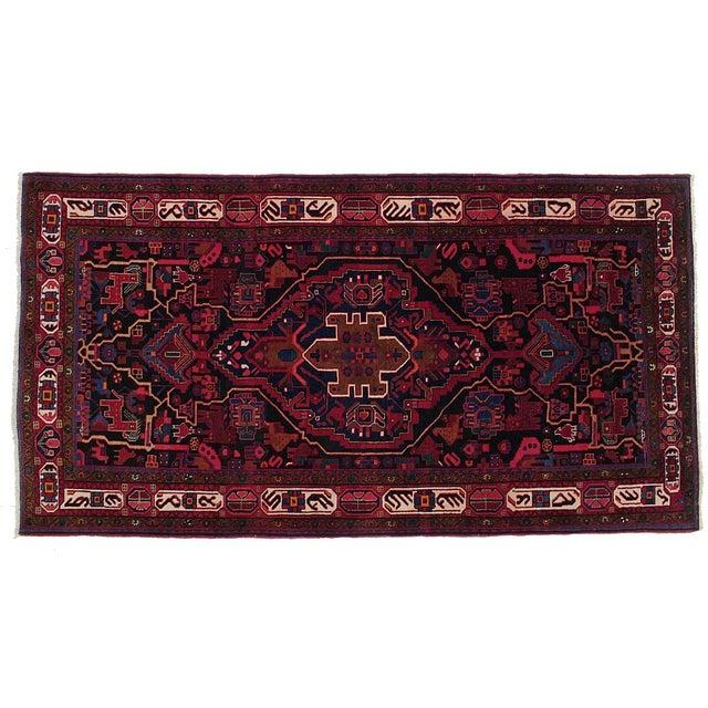 """Vintage Persian Nahavand Rug - 5'5"""" X 10'0"""" - Image 1 of 3"""