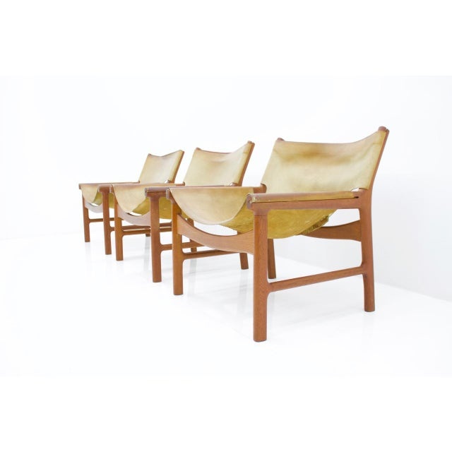 1970s Rare Set of Three Lounge Chairs by Illum Wikkelsø for Mikael Laursen, 1972 For Sale - Image 5 of 9