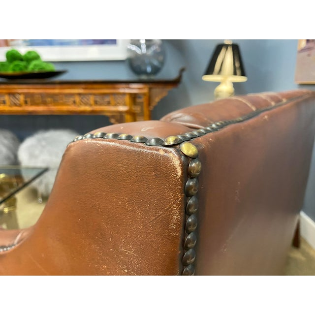 Vintage 1960s Leather Sofa For Sale - Image 10 of 11