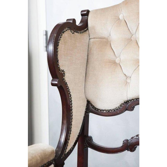 Mahogany Wingback Armchair For Sale - Image 5 of 6