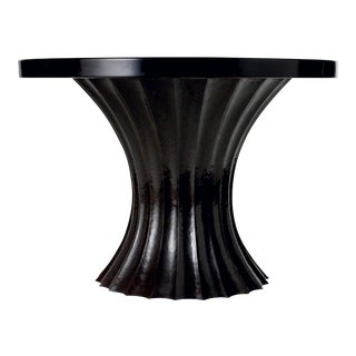 Fluted Entry Table Base - Antique Copper For Sale